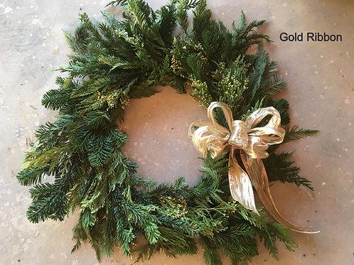 Fresh Evergreen Seasonal Wreath