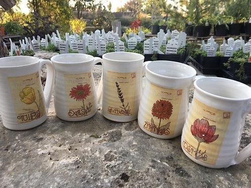 Spring Floral Seed Packet Mugs