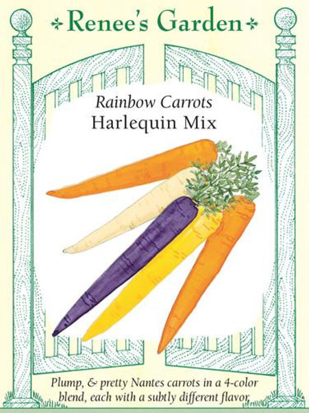 Renee's Garden Rainbow Carrots Harlequin Mix Seed Packet