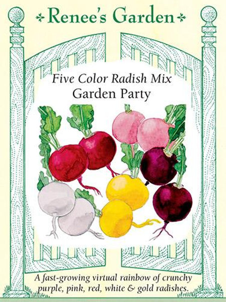 Renee's Garden Five Color Radish Mix Garden Party Seed Packet
