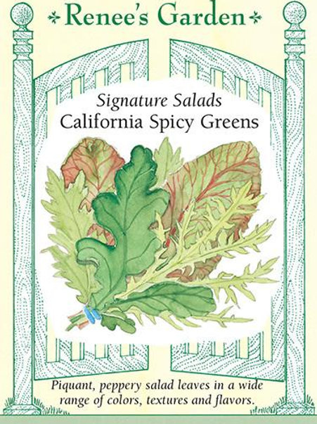 Renee's Garden Signature Salads California Spicy Greens Seed Packet