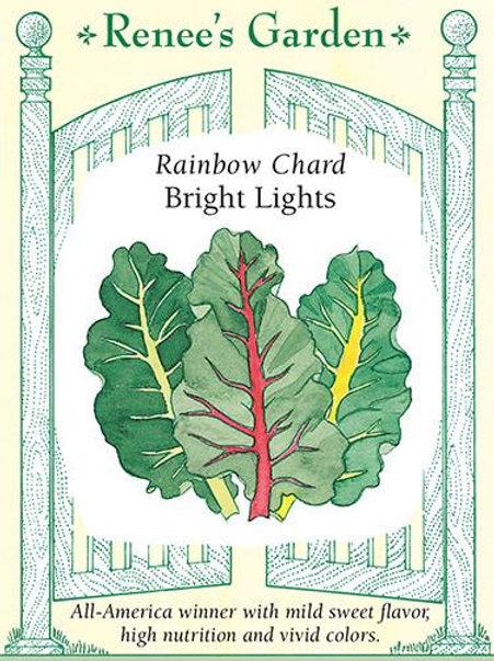 Renee's Garden Rainbow Chard Bright Lights Seed Packet
