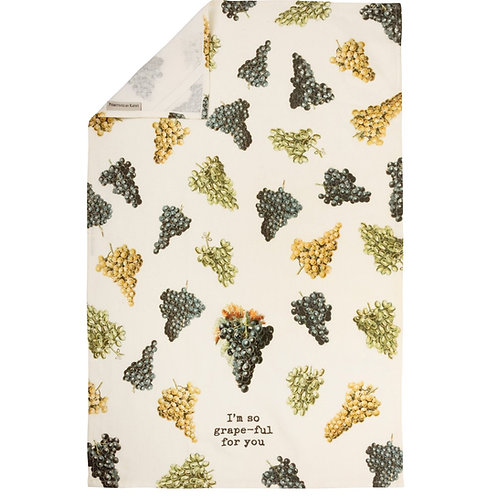 I'm So Grape-ful For You Dish Towel