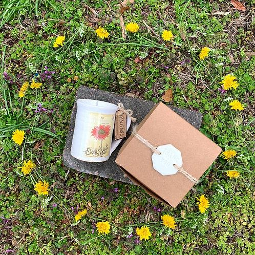 Floral Espresso Mug Candle (Handmade)