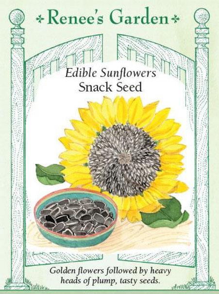 Renee's Garden Edible Sunflowers Snack Seed Packet