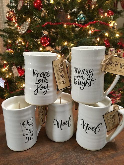 Christmas Espresso Mug Candles (Handmade locally)