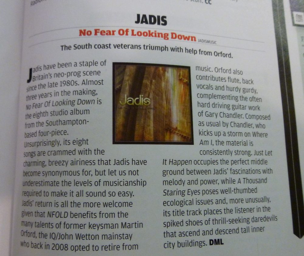 No Fear of Looking Down Prog Magazine Review