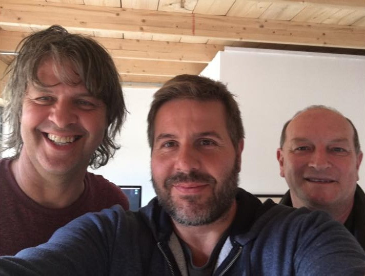 Gary, Steve & Martin at the studio - September 2016