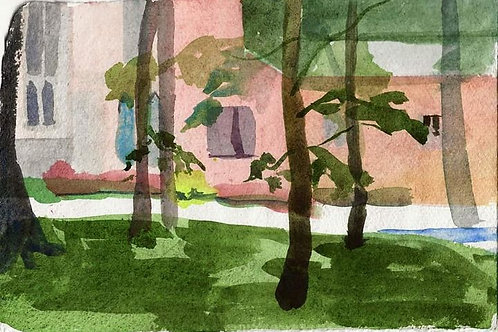 George Washington Chapel through the trees