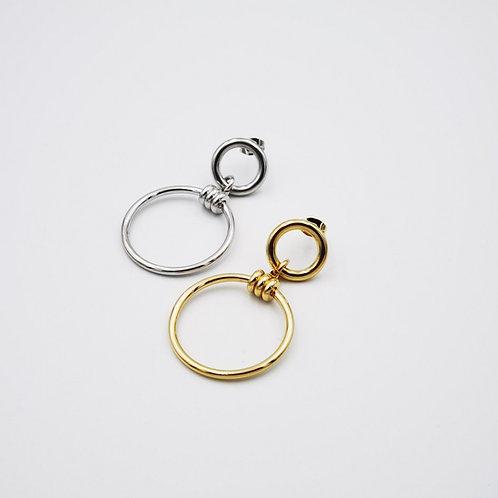 Σκουλαρίκια διπλοί κύκλοι