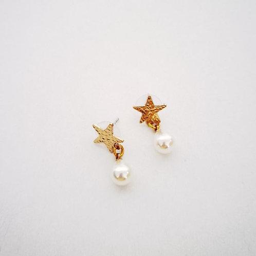 Σκουλαρίκια αστέρι με μαργαριτάρι