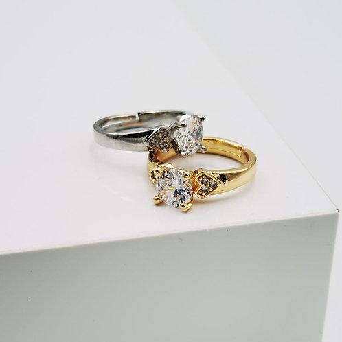 Δακτυλίδι μονόπετρο Χ