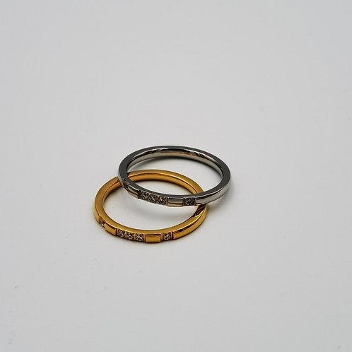 Δακτυλίδι βέρα λεπτή Χ