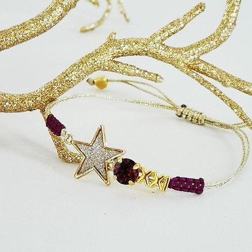 """Βραχιόλι αστέρι """"XXI"""""""