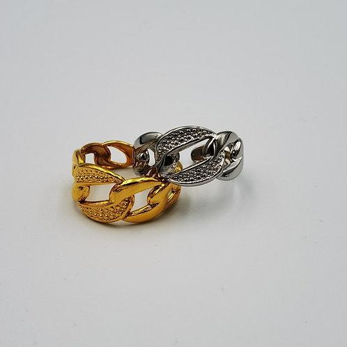 Δακτυλίδι αλυσίδα σκαλιστό