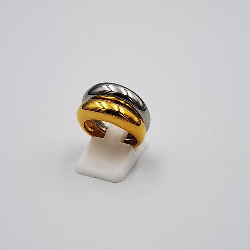 Δακτυλίδι βέρα πομπέ Χ