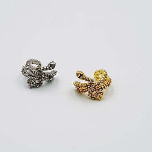 Σκουλαρίκια cuff φίδι