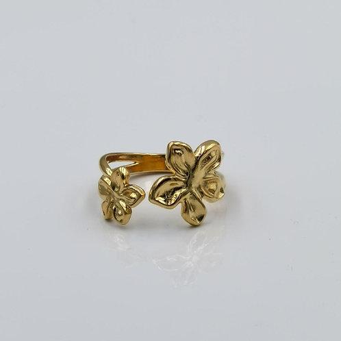 Δακτυλίδι διπλά λουλούδια