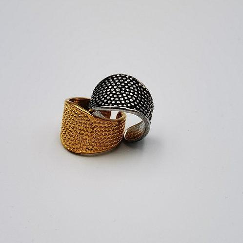 Δακτυλίδι φαρδύ σφυρήλατο Χ