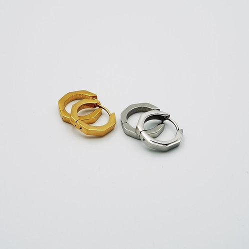Σκουλαρίκια εξάγωνα