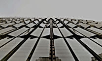 Abstract Glass Building