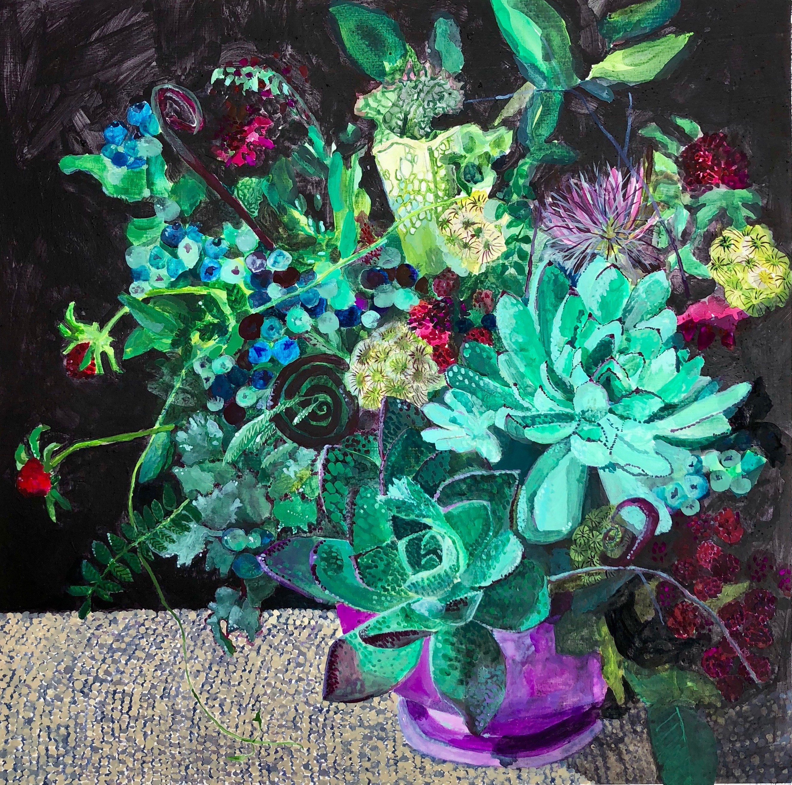 Untitled (Still life with succulent)