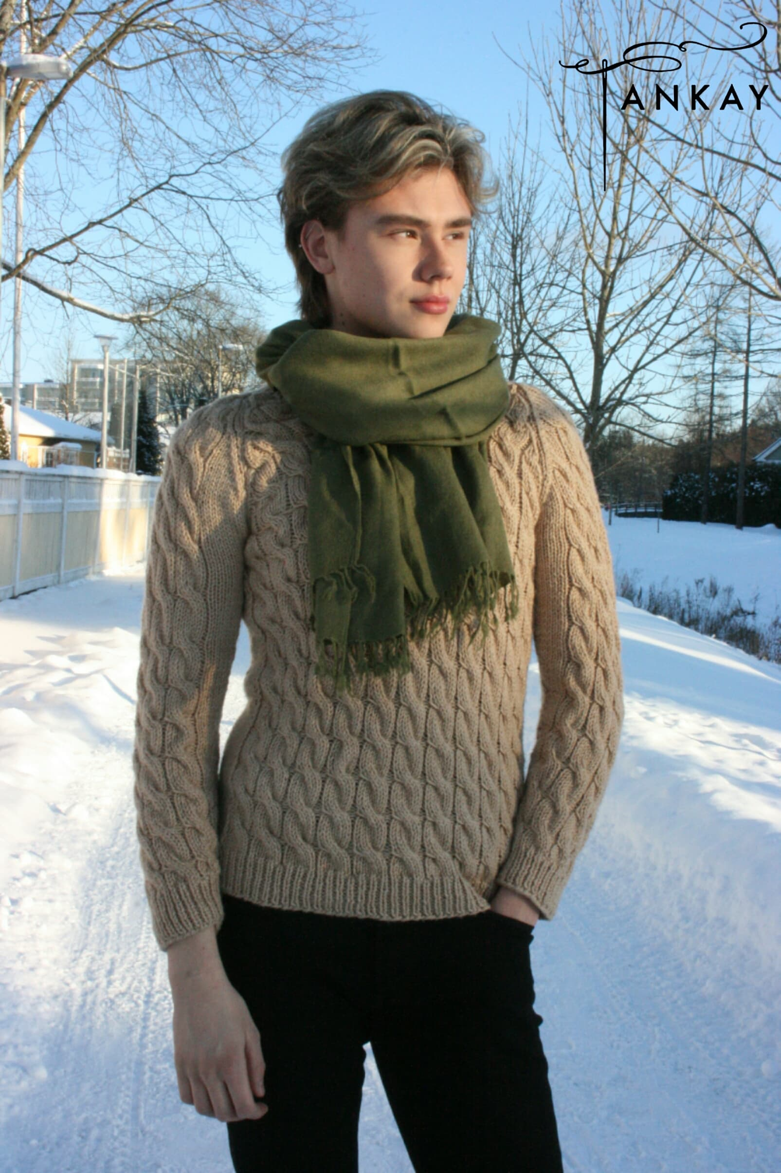 Sweater, knitted, unisex