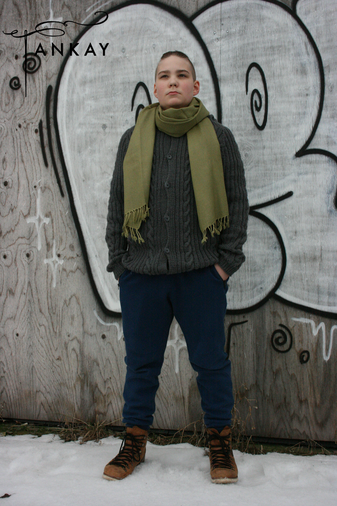 Scarf, light green