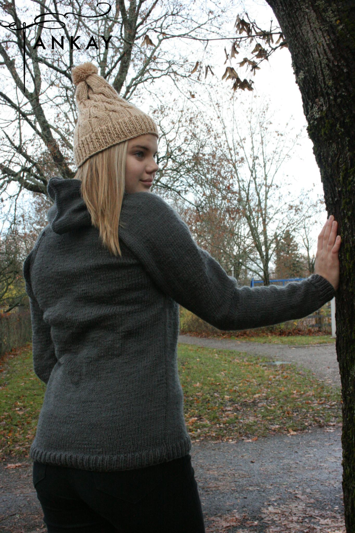Hoodie, knitted, unisex
