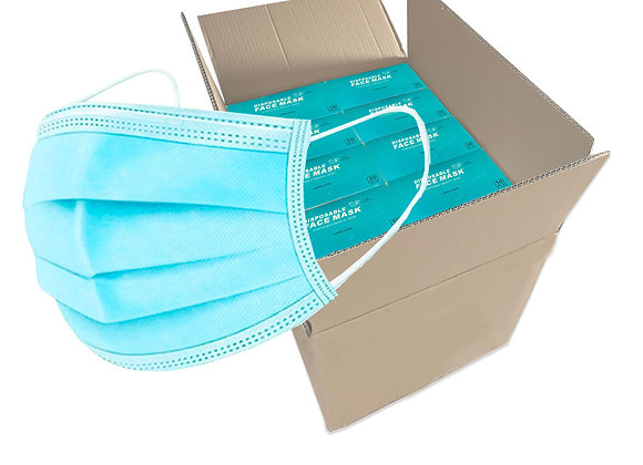 3-ply Medical Disposable Face Mask. Box of 2,000