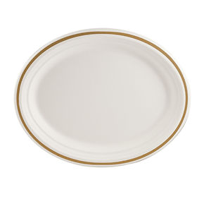 slightsmaller 125 inch gold rimmed plate