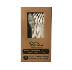 Retail Box CPLA Compostable Cutlery