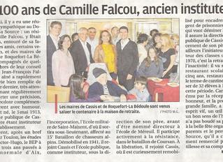 Les 100 ans de Camille FALCOU, ancien instituteur et directeur de l'école publique de Cassis