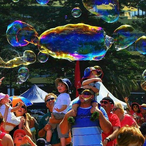 óriás buborék program gyerekeknek rendezvényre