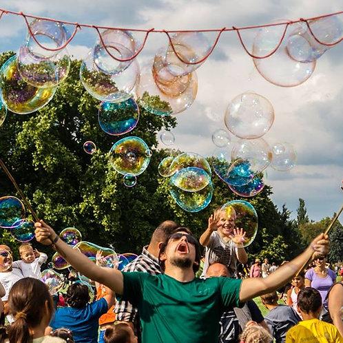 óriás buborék gyerekeknek