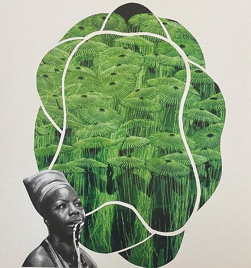 """Green Simone"" collage"