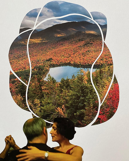 """Autumn Tango"" collage"