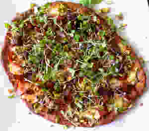 microgreens pizza