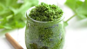 How to make pesto with radish microgreens