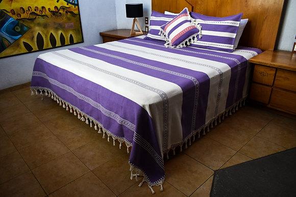 Purple bedspread Set