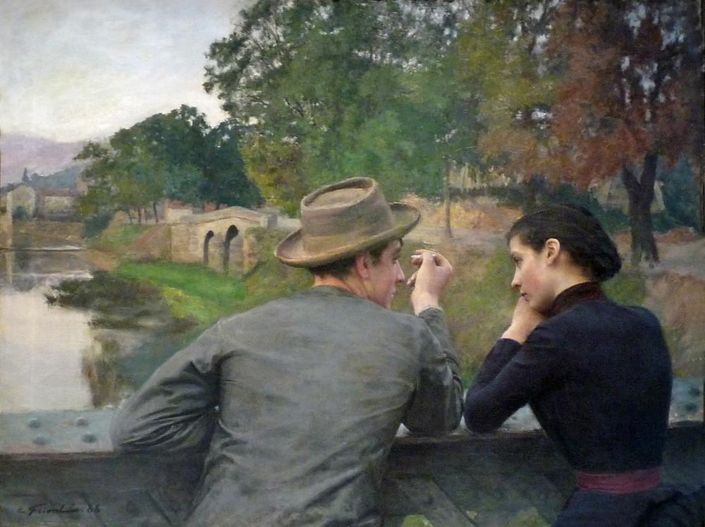 Emile Friant- Les Amoureux - Musée des beaux arts de Nancy