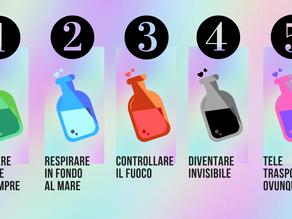 Ecco 5 pozioni magiche. Quale scegli?