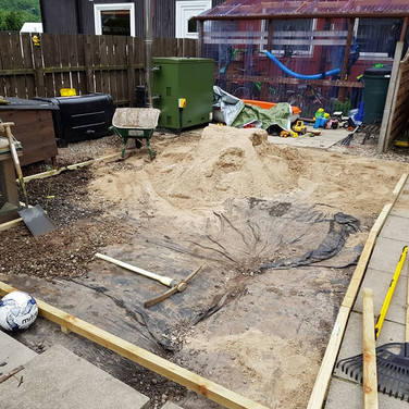 Setting Out Artificial Lawn