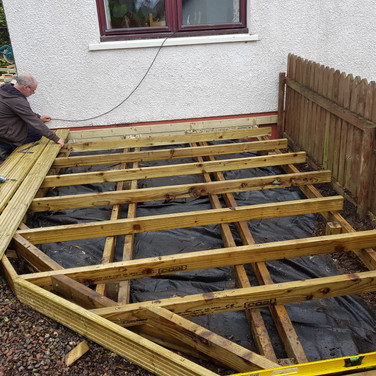 Setting Out Decking Frame