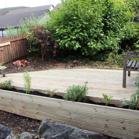 Decking With Planter