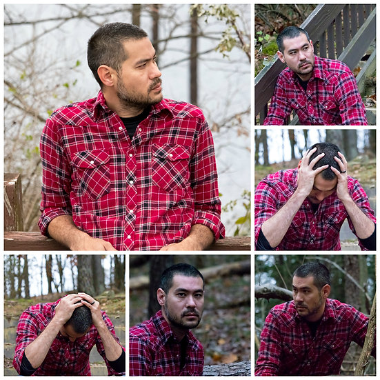 Mikey Lee In Red Flannel   Location: Woods