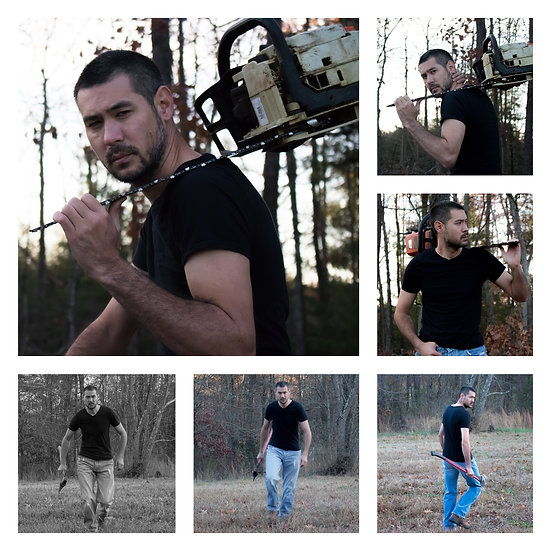 Mikey Lee In Black Shirt   Location Woods