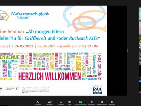 Ab morgen Elternbegleiter*in für Griffbereit/Rucksack KiTa