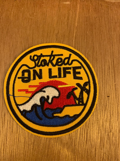 Stoked on Life Iron on Patch