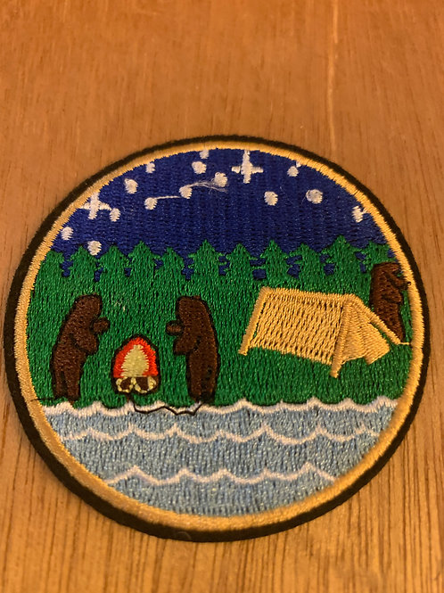 Camping Bears Iron on Patch